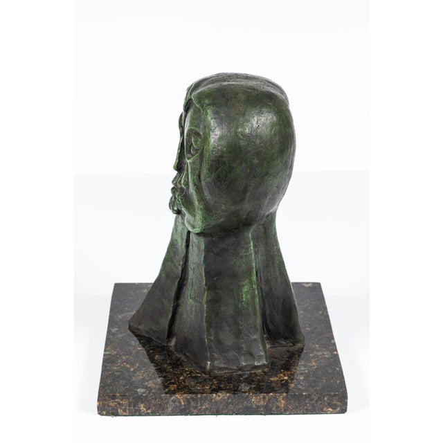 1970s MId-Century Modern Bronze Abstract Sculpture For Sale - Image 5 of 9