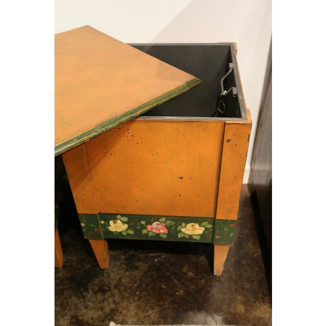 Italian Hand-Painted Flower Boxes - A Pair - Image 3 of 8