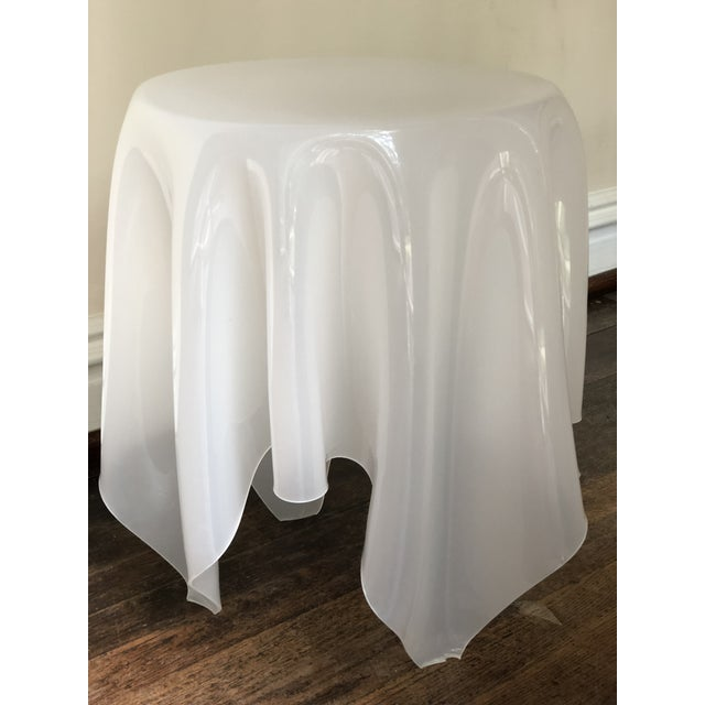 Acrylic Handkerchief Table For Sale - Image 9 of 13
