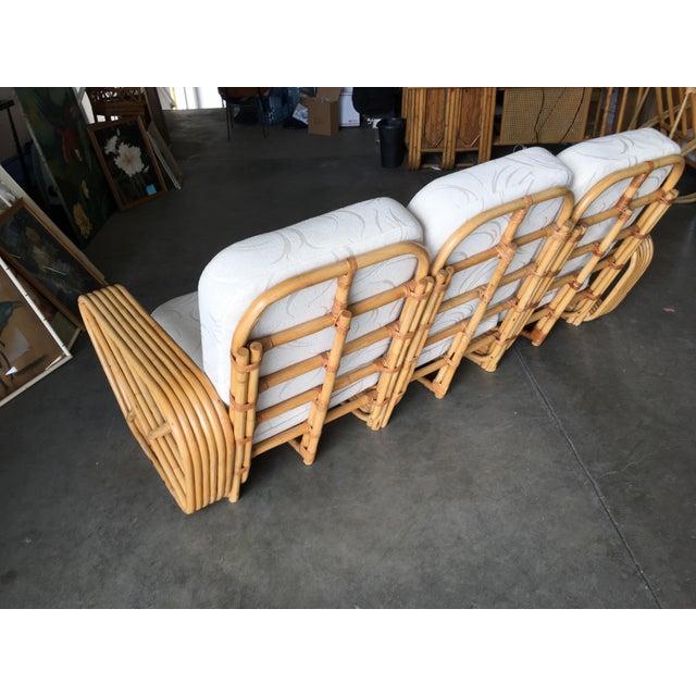 Paul Frankl Restored Paul Frankl Six-Strand Sectional Sofa Living-Room Set W/ Side Tables For Sale - Image 4 of 11