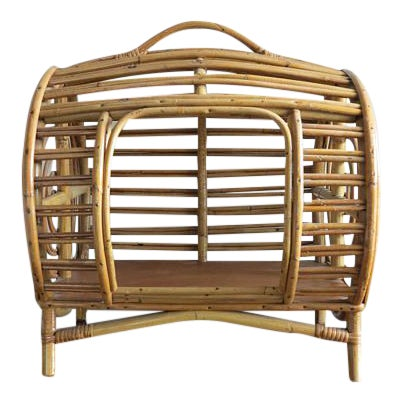 C.1930 Art Deco Abercrombie & Fitch Rattan Bamboo Pet Bed - Image 1 of 8