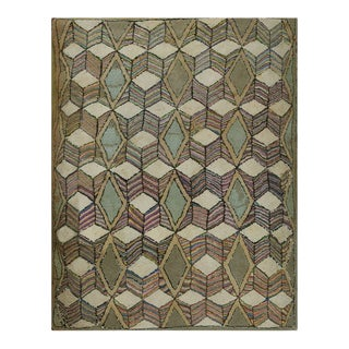 """Antique American Hooked Rug 2'9"""" X 3'5"""" For Sale"""