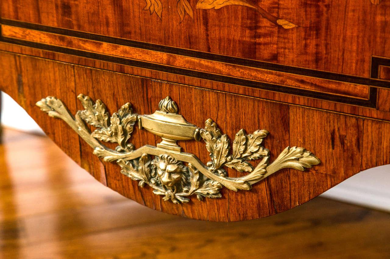 19th Century French Marquetry Commode For Sale   Image 9 Of 10