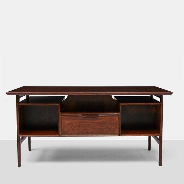 Omann Jun rosewood executive desk - Image 7 of 8