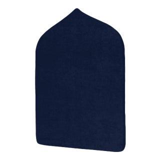 The Crown Headboard - Twin - Charlotte - Luxe Velvet, Prussian Blue For Sale