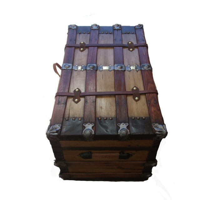 2010s Turn of the Century Box Trunk For Sale - Image 5 of 7