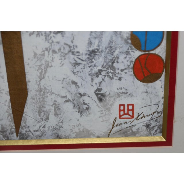 Chinese Painting by Qu Jian Xiong. Fine acrylic & Inks on paper by Qu Jian Xiong. Signed in the lower right corner....