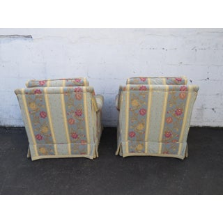 Pair of Large Wide Living Bed Room Fireplace Side Chairs Preview