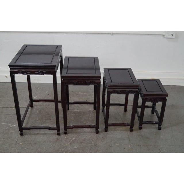 Chinese Rosewood Nesting Tables - Set of 4 For Sale - Image 5 of 9