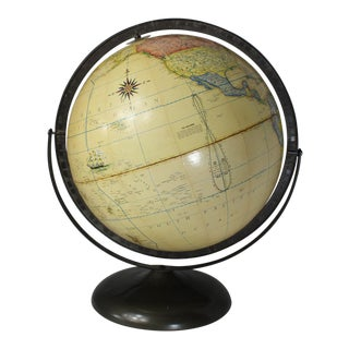 "Vintage Rand McNally Terrestrial 12"" Rotating Globe For Sale"
