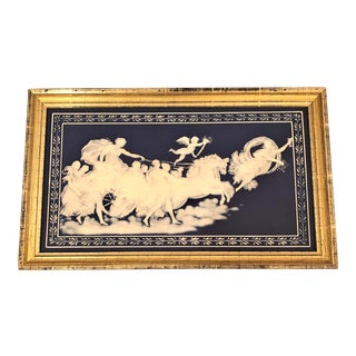 "Antique ""Mettlach"" Porcelain Plaque, Circa 1890. For Sale"