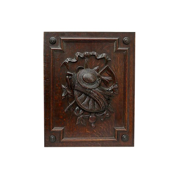 Antique French Carved Wall Panel For Sale