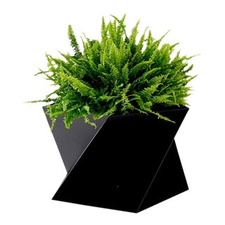 Trey Jones Studio Black Pentagami Planter For Sale