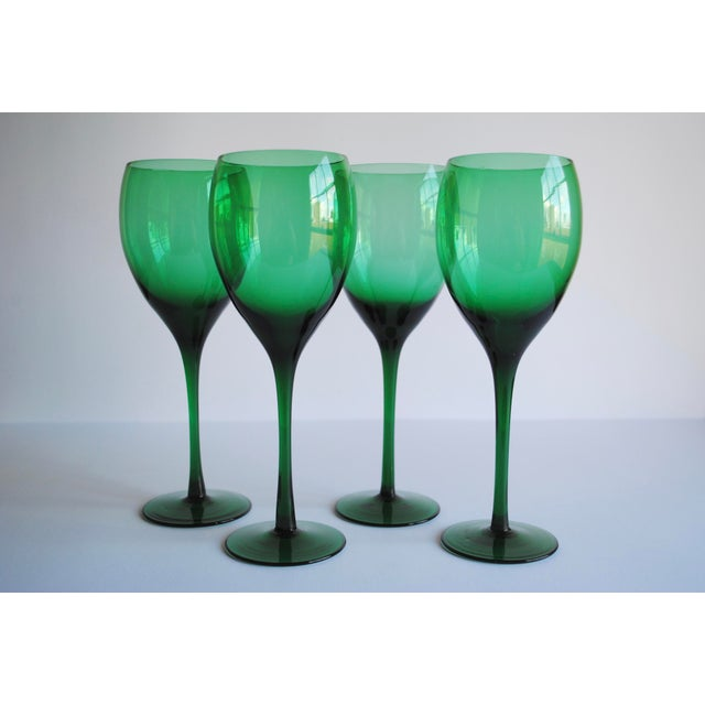 Vintage Long Stemmed Wine Glasses - Set of 4 - Image 2 of 4
