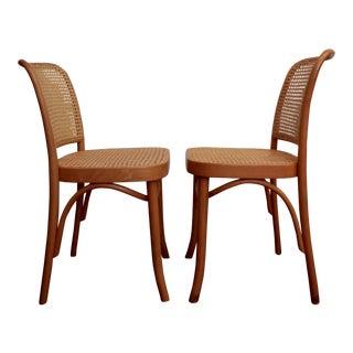 Josef Hoffmann Prague 811 Bentwood Thonet Chairs, a Pair