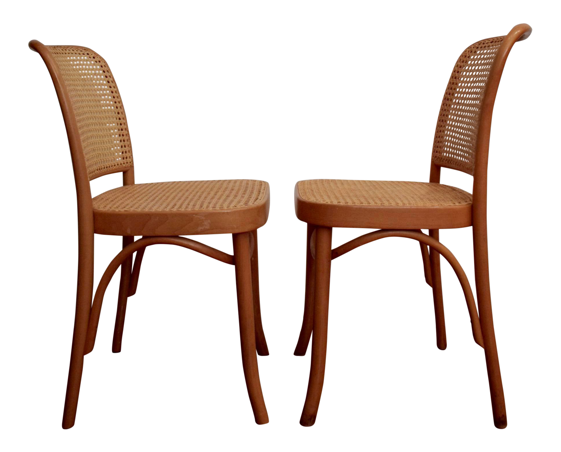 Josef Hoffmann Prague 811 Bentwood Thonet Chairs, A Pair For Sale