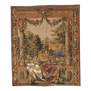 Chateau De Versailles Silkscreen Tapestry Wall Hanging For Sale
