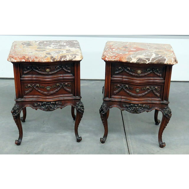Louis XV Style Marble Top End Tables For Sale - Image 10 of 10