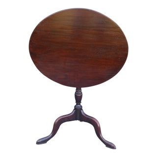 19th Century Mahogany Tilt-Top Table