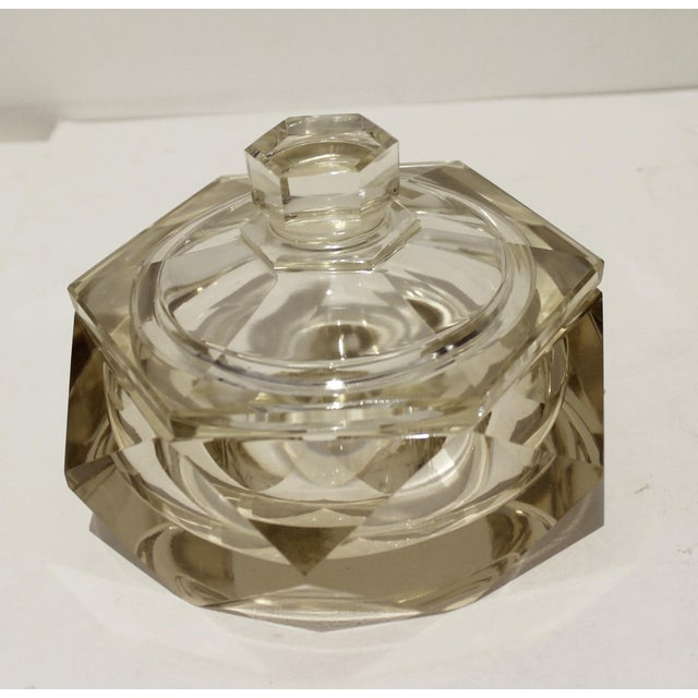 Art Deco 1930s Cut Crystal Covered Dish For Sale - Image 12 of 12