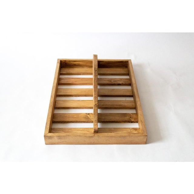1950s Vintage Wooden Berry Carrier For Sale - Image 5 of 7