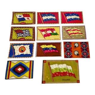 Vintage Flag Tobacco Silks - Set of 11