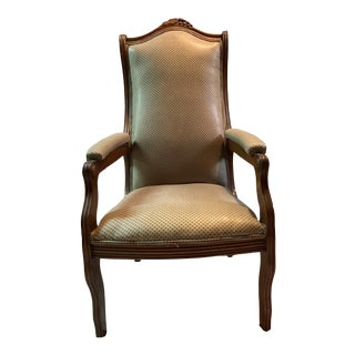 Antique Mahogany Arm Chair For Sale