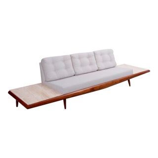 Adrian Pearsall Sofa with Travertine Side Tables for Craft Associates