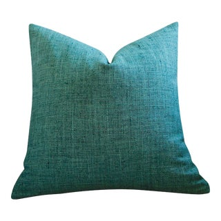 Teal Blue Green Euro Sham 24x24 For Sale