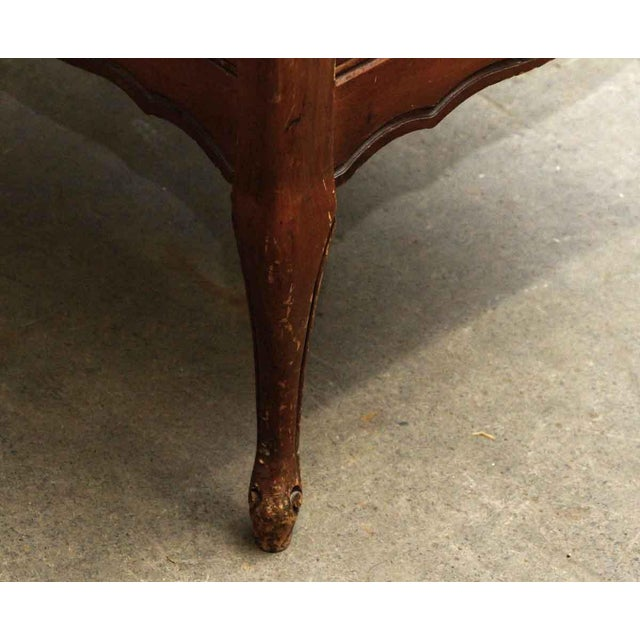 Leather Top French Side Table For Sale - Image 9 of 9