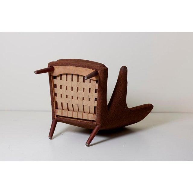 Fabric Hans J. Wegner Papa Bear Chair For Sale - Image 7 of 12
