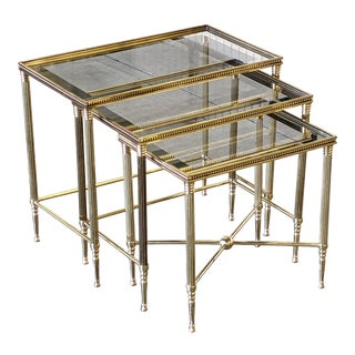 1960s Italian Hollywood Regency Nesting Tables - Set of 3 For Sale
