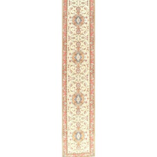 """Pasargad NY Persian Tabriz Taba Design Hand-Knotted Area Rug - 3' x 17'1"""" For Sale"""