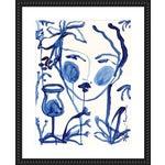 "Medium ""Flowers & Wine Indigo"" Print by Leslie Weaver, 26"" X 32"""