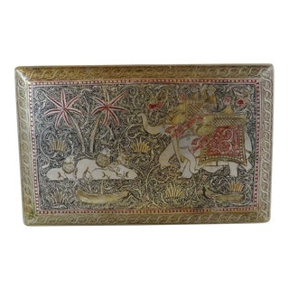Vintage Tinted Silverplate Cigarette Case For Sale