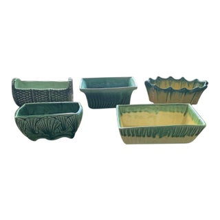 McCoy Green Jardinieres- Set of 5 For Sale