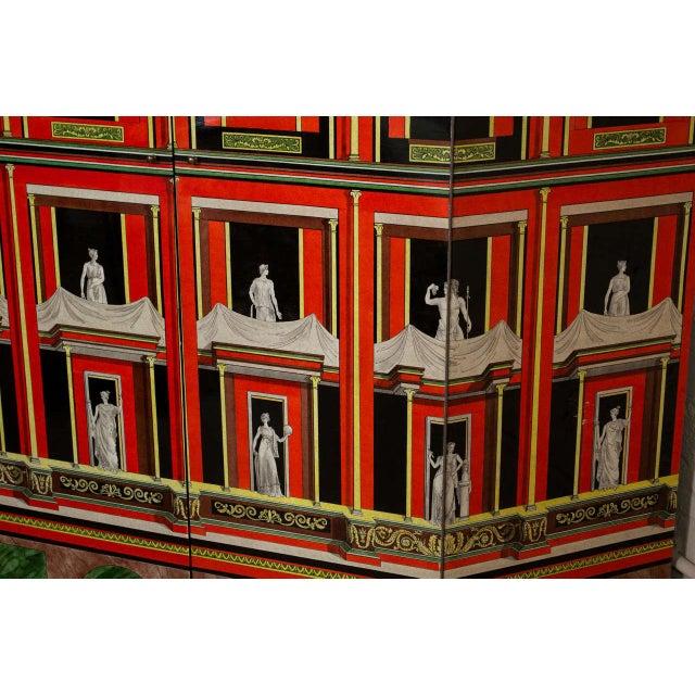 Lacquer Piero Fornasetti Exceptional Lacquered Encoignure/Corner Cabinet For Sale - Image 7 of 8