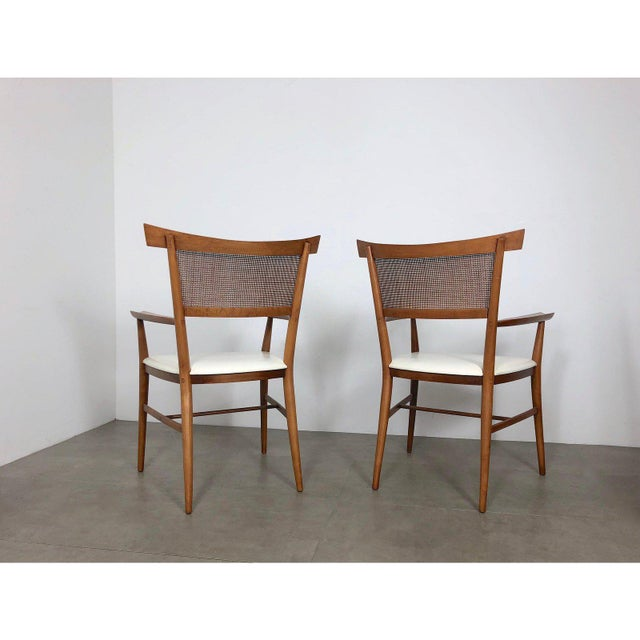 Winchendon Furniture Company Set of 10 Paul McCobb Cane Dining Chairs, Circa 1950's For Sale - Image 4 of 9