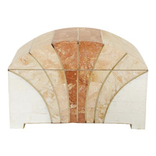 Maitland-Smith Vintage 1970s Arch Shaped Tessellated Stone Box