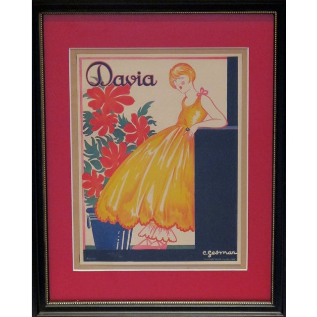 English Framed Vintage British Advertisement Davia For Sale - Image 3 of 3