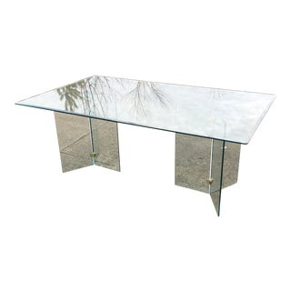 Pace Collection Mid Century Glass Dining Table For Sale