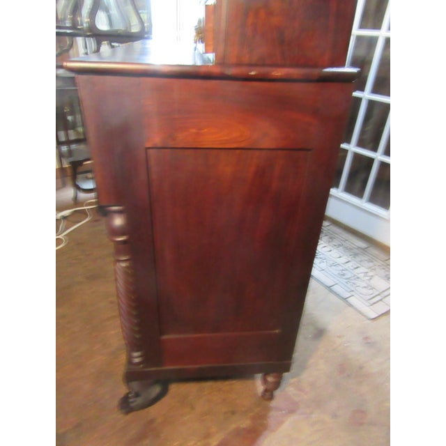 Brown Antique Empire Paw Foot Crotch Mahogany Chest of Drawers For Sale - Image 8 of 13