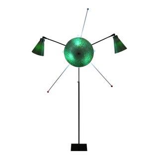 Atomic Mid Century Spun Fiberglass Floor Lamp For Sale