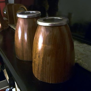 1960s Danish Modern Teak and Steel Mid-Century Modern Vases - a Pair Preview