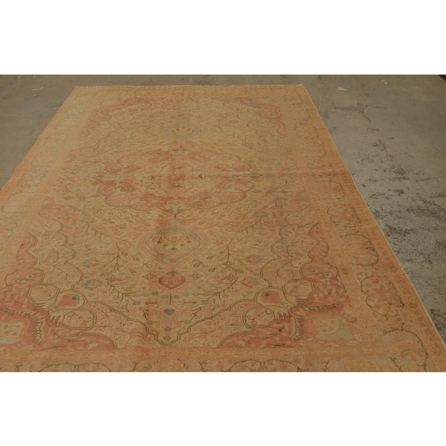 Early 20th Century Antique Hand Knotted Pink Floral Sivas Rug - 6' x 9' For Sale - Image 5 of 6
