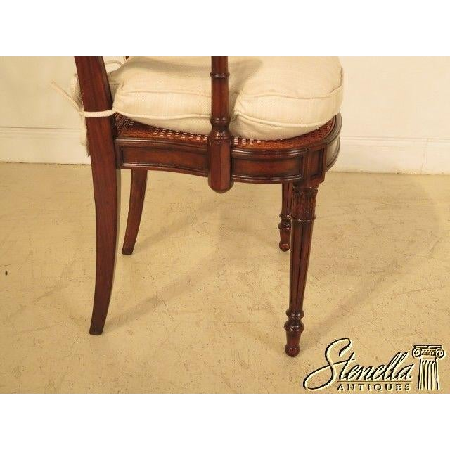 Theodore Alexander Pair Regency Mahogany Arm Chairs #4100-236 For Sale - Image 9 of 11