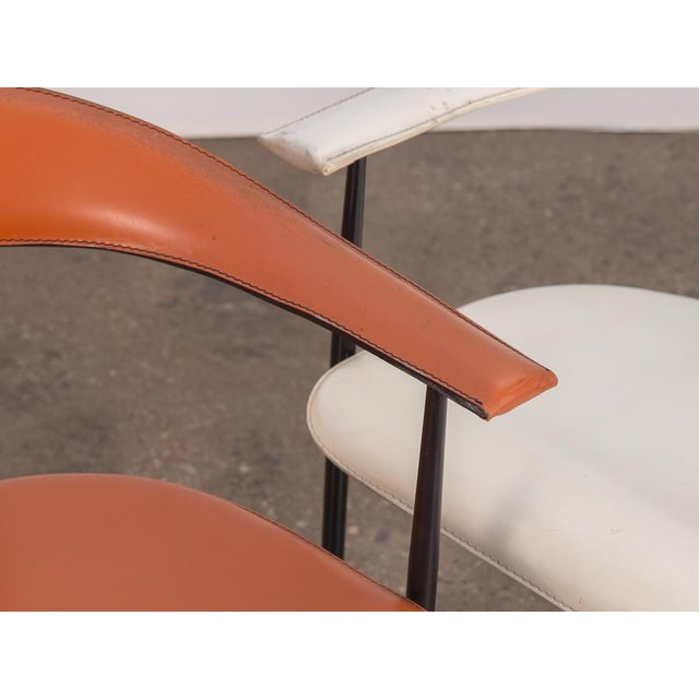 Metal P40 Armchairs by Giancarlo Vegni and Gianfranco Gualtierotti - a Pair For Sale - Image 7 of 12