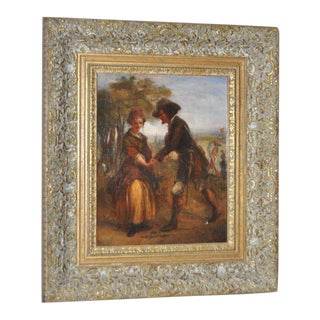 19th Century Romance Oil Painting For Sale