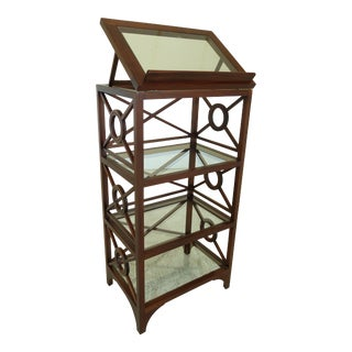 Mahogany Modern Chippendale Style Lectern Display Table For Sale