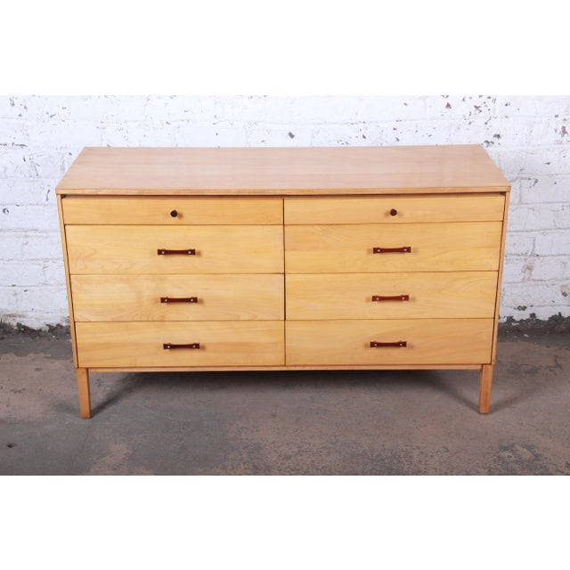 "An exceptional mid-century modern eight-drawer dresser or credenza By Paul McCobb for Winchendon Furniture ""Perimeter..."